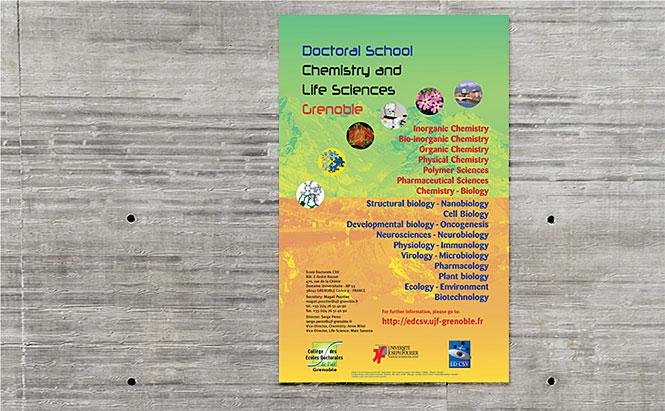 Charte graphique pour les Écoles doctorales de l'UJF - affiche