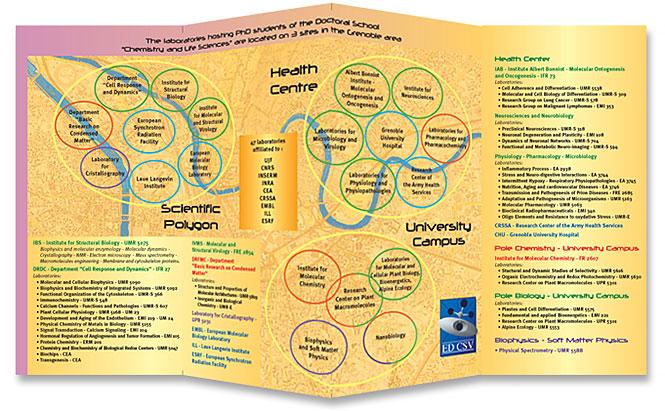 Charte graphique pour les Écoles doctorales de l'UJF - dépliant