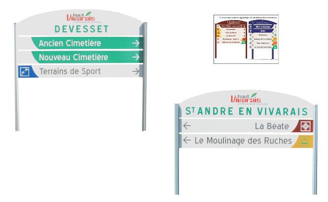 Communauté de communes du Haut-Vivarais (07) - exemple de signalétique