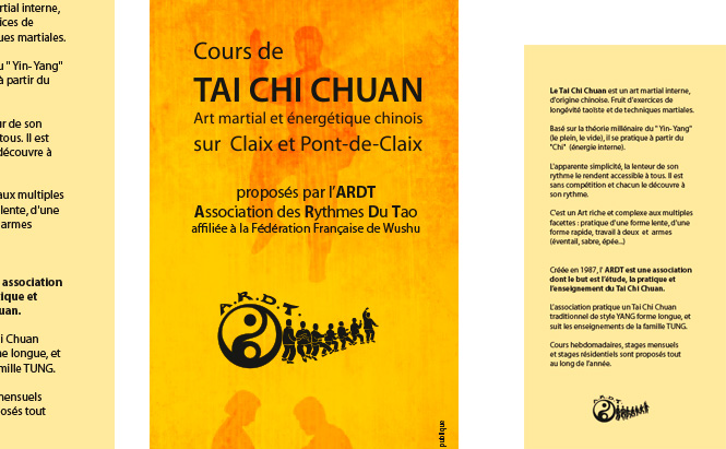 ARDT taichi chuan flyer illustration