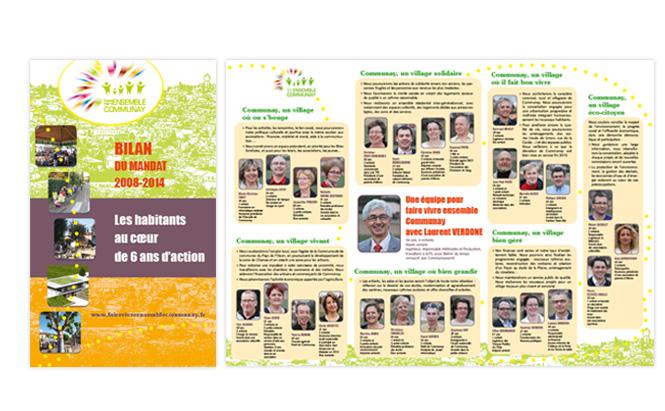 Liste électorale Faire Vivre Ensemble Communay -bilan et tract