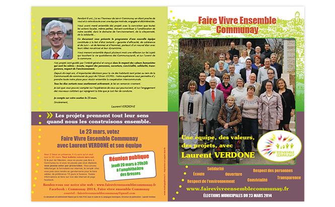 Liste électorale Faire Vivre Ensemble Communay - tract