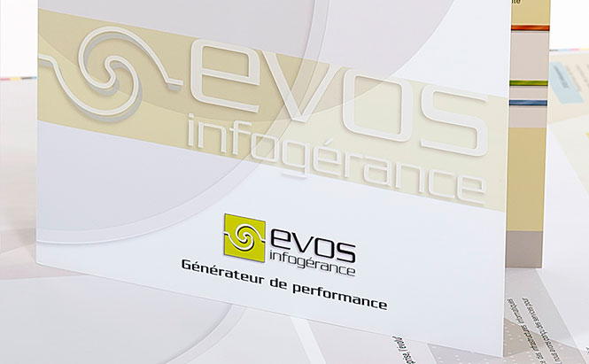 EVOS Infogérance - plaquette de communication d'entreprise