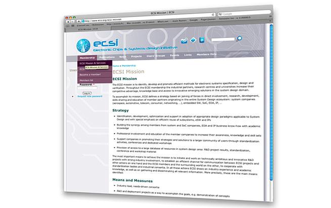 ECSI création et gestion de projet website