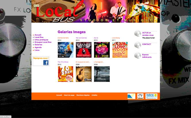 LocalBus design du site web- page galeries