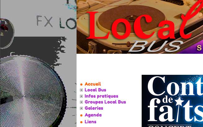 LocalBus design du site web - détail