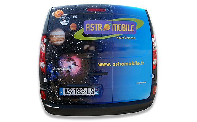 ASTROMOBILE - visuel sur covering automobile - arrière