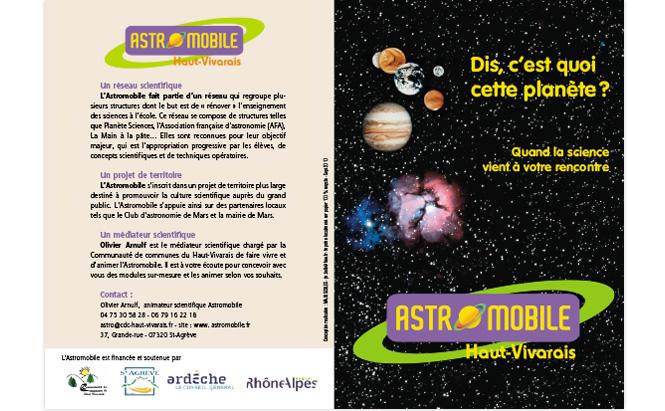 ASTROMOBILE - visuel dépliant