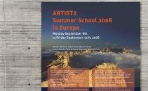 ARTIST2 - affiche pour une école d'été - détail