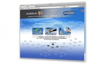 AIRRIA - conception et design du site internet - index