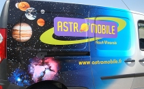 ASTROMOBILE - visuel sur covering automobile - latéral
